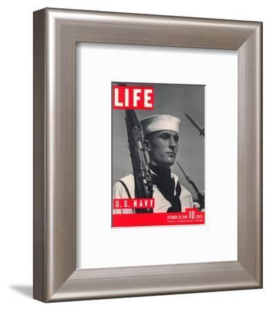 U.S. Sailor Joseph John Timpani, October 28, 1940-W. Eugene Smith-Framed Photographic Print