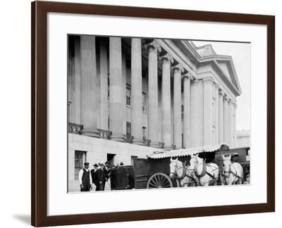 U.S. Treasury Currency Wagon, Washington, D.C.--Framed Photo