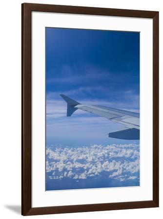 U.S. Virgin Islands, St. Thomas. Window view from jet airliner-Walter Bibikow-Framed Photographic Print