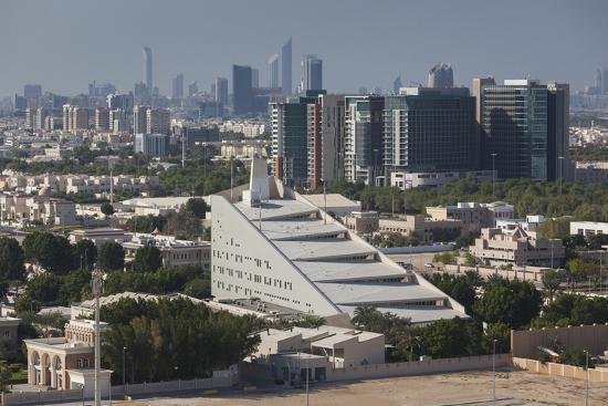 UAE, Abu Dhabi. Al Safarat Embassy Area-Walter Bibikow-Premium Photographic Print