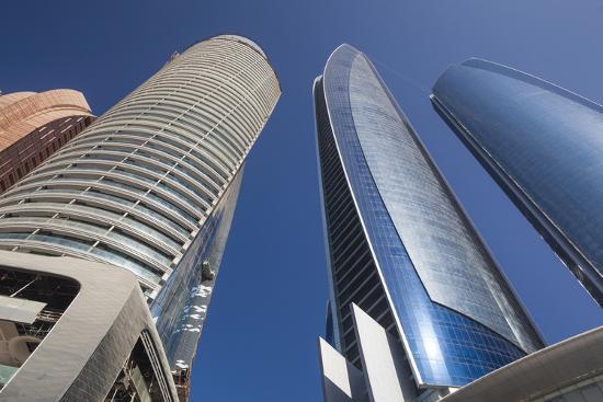 UAE, Abu Dhabi. Etihad Towers-Walter Bibikow-Premium Photographic Print