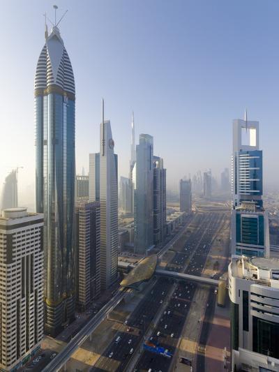 Uae, Dubai, Sheikh Zayed Road (Highway E11)-Alan Copson-Photographic Print