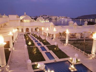 Udai Vilas Oberoi Resort Hotel, Udaipur Lake, Udaipur, Rajasthan State, India-John Henry Claude Wilson-Photographic Print