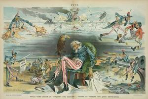 Uncle Sam's dream of conquest and carnage - caused by reading the Jingo newspapers, 1895 by Udo Keppler