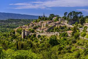 France, Provence, Vaucluse, Bonnieux, View of the Village by Udo Siebig