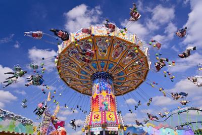 Germany, Bavaria, Munich, Theresienwiese Oktoberfest, Whirligig by Udo Siebig