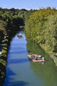 Germany, Bavaria, Upper Bavaria, Isar Valley, Isarkanal, Raft Driver, Lookout by Udo Siebig