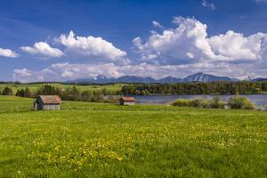 Germany, Bavaria, Upper Bavaria, Pfaffenwinkel, Egling by the Riegsee Lake by Udo Siebig