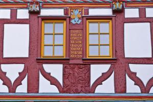 Germany, Hessen, Taunus, German Timber-Frame Road, Bad Camberg, Old Town, Timber-Framed Facade by Udo Siebig