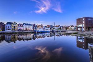 Germany, Schleswig-Holstein, North Frisia, 'Husumer Bucht' (Bay), Husum by Udo Siebig