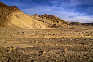 The USA, California, Death Valley National Park, scenery in the Bad Water Road close Golden canyon by Udo Siebig