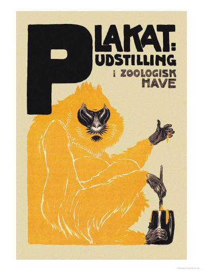 Udstilling I Zoologisk Have-Valdemar Andersen-Art Print