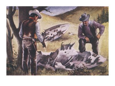 UFO Crash at Roswell--Giclee Print