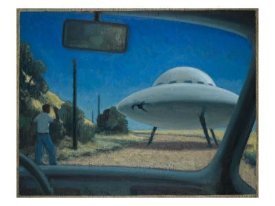 UFO Encounter-Michael Buhler-Giclee Print