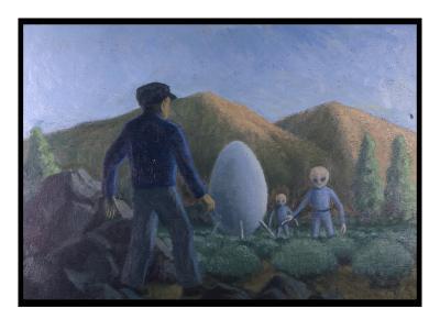 UFO Near Valensole, France-Michael Buhler-Giclee Print