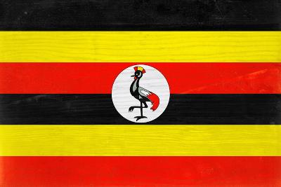 Uganda Flag Design with Wood Patterning - Flags of the World Series-Philippe Hugonnard-Art Print