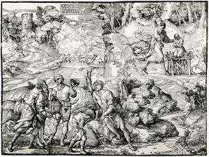 Abraham's Sacrifice, 1516-1518 by Ugo da Carpi