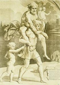 Aeneas and Anchises by Ugo da Carpi