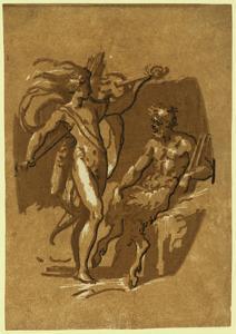 Apollo and Marsyas, Between 1500 and 1530 by Ugo da Carpi