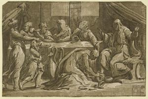Christ at the Table of Simon the Pharisee by Ugo da Carpi