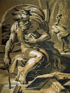 Diogenes, after 1527 by Ugo da Carpi