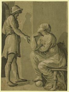 Raphael and His Beloved by Ugo da Carpi