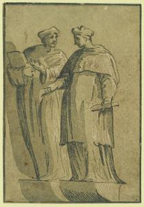 The Cardinal and the Doctor, Between 1500 and 1530 by Ugo da Carpi