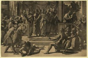The Death of Ananias, Between 1515 and 1535 by Ugo da Carpi