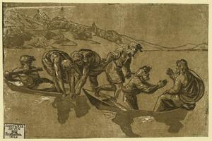 The Miraculous Draught of Fishes, Between 1500 and 1530, Printed 1609 by Ugo da Carpi