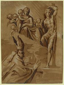 The Virgin by Ugo da Carpi