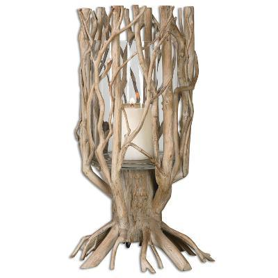 Ugo Natural Wood Candleholder--Home Accessories