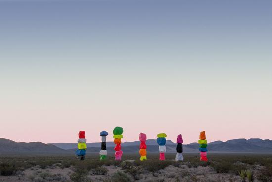 Ugo Rondinone: Seven Magic Mountains, Las Vegas Nevada, 2016 (Official Authorized Print)--Photographic Print