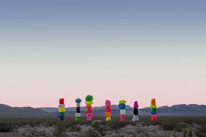 Ugo Rondinone: Seven Magic Mountains, Las Vegas Nevada, 2016 (Official Authorized Print)