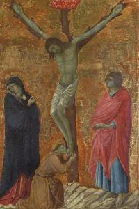 Crucifixion with St Francis by Ugolino Di Nerio