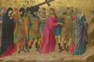 The Way to Calvary (From the Basilica of Santa Croce, Florenc), C. 1324-1325 by Ugolino Di Nerio