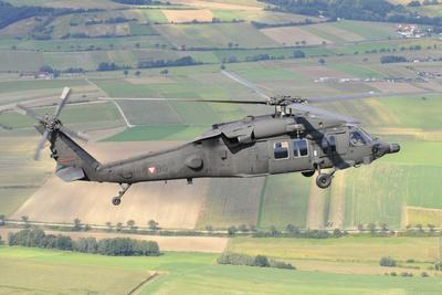 Uh-60 Black Hawk Helicopter of the Austrian Air Force in Flight-Stocktrek Images-Photographic Print