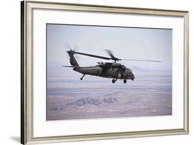 Uh-60 Black Hawk Takes Off after Refueling in New Mexico-Stocktrek Images-Framed Photographic Print