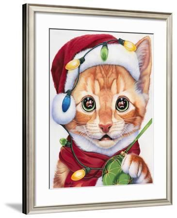 Uh Oh! Santa!-Jenny Newland-Framed Giclee Print