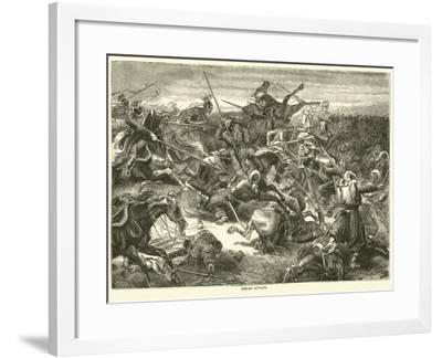 Uhlan Attack, October 1870--Framed Giclee Print
