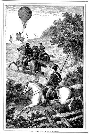 Uhlans in Pursuit of a Balloon, Franco-Prussian War, 1870-1871--Giclee Print