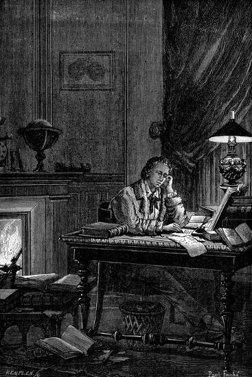 Ujj Leverrier, French Astronomer Calculating the Position of the Planet Neptune in 1846--Giclee Print