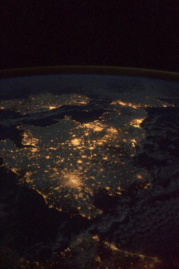 UK At Night From Space--Photographic Print