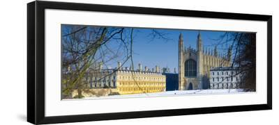 UK, England, Cambridge, King's College Chapel from the Backs-Alan Copson-Framed Photographic Print