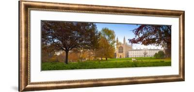 UK, England, Cambridgeshire, Cambridge, the Backs, King's College Chapel-Alan Copson-Framed Photographic Print