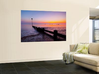 Uk, England, Essex, Thames Estuary, Southend, Shoeburyness at Sunset-Alan Copson-Wall Mural