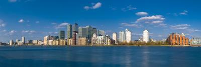Uk, England, London, Canary Wharf and River Thames-Alan Copson-Photographic Print