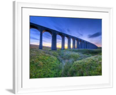 UK, England, North Yorkshire, Ribblehead Viaduct on the Settle to Carlisle Railway Line-Alan Copson-Framed Photographic Print