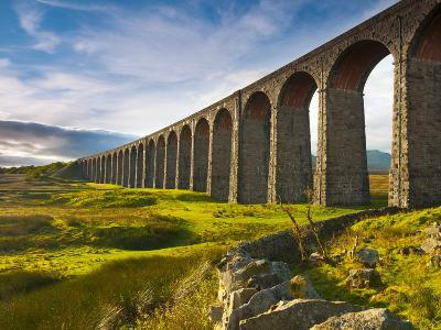 UK, England, North Yorkshire, Ribblehead Viaduct on the Settle to Carlisle Railway Line-Alan Copson-Photographic Print