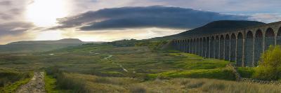 UK, England, North Yorkshire, Ribblehead Viaduct on the Settle to Carlisle Railway Line-Alan Copson-Photographic Print