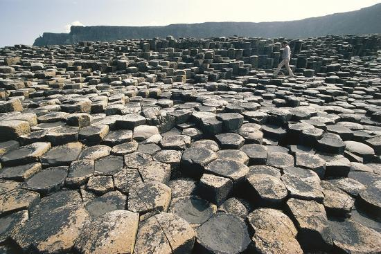 UK, Northern Ireland, County Antrim, Giant's Causeway, Basaltic Prisms--Giclee Print